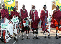 Masai warrior runners